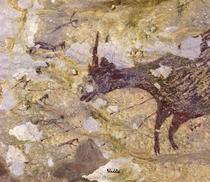Una dintre imaginile create acum 44.000 de ani