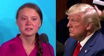 Greta si Trump