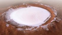Marte - calota glaciara de la Polul Nord