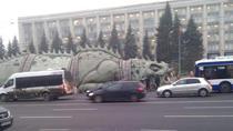 Reptila uriasa la Chisinau