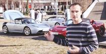 Adrian Mitrea si Tesla Roadster in 2010