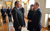 Regele Mohammed al VI-lea alaturi de Vladimir Putin