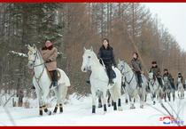 Kim Jong Un pe un cal alb