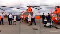 Viorica Dancilă, cu elicopterul in Moldova