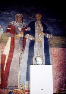 pictura bisericească distrusa de un instalator (foto: Marius Tudor)
