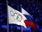 Drapelul olimpic si cel al Rusiei