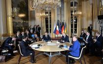 Zelenski, Macron, Putin și Merkel