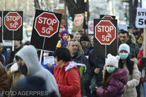 Un protest organizat de Coalitia Stop 5G a avut loc si in Capitala