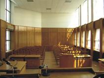 Sala de tribunal din Romania