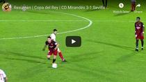 Mirandes, victorie mare cu Sevilla