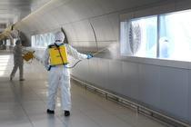 Desinfectie la aeroport