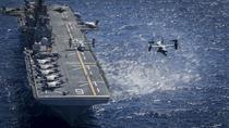 Avioane F-35B pe puntea navei amfibii de asalt USS America