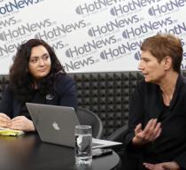 Corina Ciocârlie și Andreea Răsuceanu.