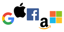 Google, Apple, Facebook, Amazon, Microsoft