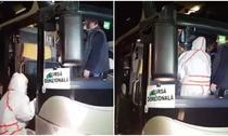 Autocar cu elevi sosit din Veneto la Alba Iulia