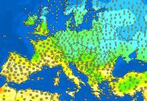 Vremea in Europa, la pranz pe 24 februarie 2020