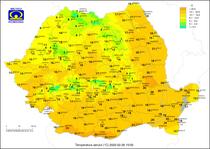 Temperaturile la ora 15 pe 26 februarie 2020