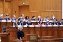 Dăncilă în Parlament