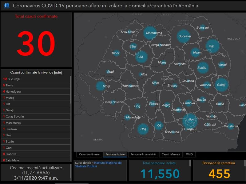 Tablou Interactiv Coronavirus In Romania Situația La Moment Din