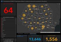 Coronavirus in Romania - Harta - situatia pe judete - Vineri 13 martie