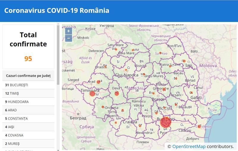 Interactiv Coronavirus In Romania Situația Din Fiecare Județ