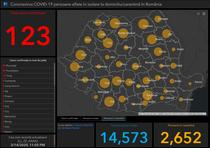 Coronavirus in Romania - Harta - situatia pe judete - Sambata,14 martie