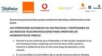 Comunicat al operatorilor telecom din Spania