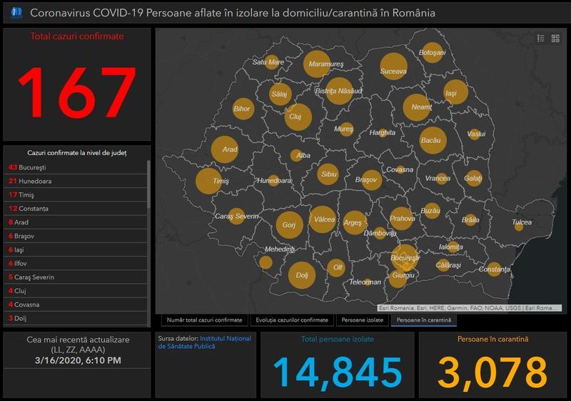 Tablou Interactiv Coronavirus In Romania Situația Actualizată Din