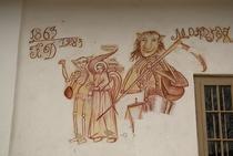 Moartea râzând. Frescă biserica Ciocănei Argeș