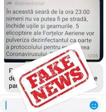 Fake News cu elicopterele Armatei și coronavirus