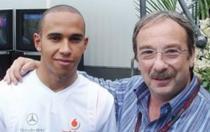 Miki Alexandrescu, alaturi de Lewis Hamilton
