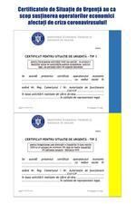 certificatele de urgenta