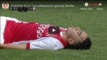 Abdelhak Nouri, in momentul in care s-a prabusit pe teren