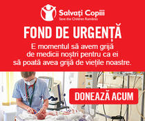 Salvați Copiii, apel pentru susținerea fondului de urgență pentru dotarea spitalelor în contextul pandemiei de COVID-19