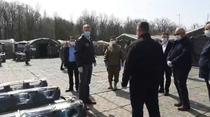 Coronavirus: Iohannis la spitalul mobil al Armatei