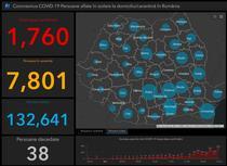 Coronavirus in Romania - Harta - situatia pe judete 29 martie
