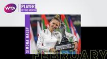 Simona Halep, jucatoarea lunii februarie in WTA