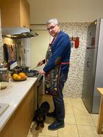 Teodor Baconschi și Milo. În bucătărie