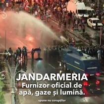 Jandarmeria, furnizor de apa, gaze si lumina