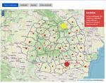 Harta cazurilor de coronavirus pe judete - 2 aprilie