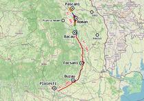 Traseul drumului de mare viteza Moldova - A7 sau DX5