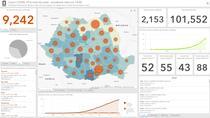 Tablou interactiv - Harta cazurilor de coronavirus in Romania - 22 aprilie
