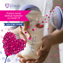 Program SAMAS - mentinerea lactatiei si alăptarea bebelusilor nascuti de mame cu Covid-19