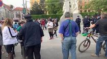 Protest neautorizat la Viena