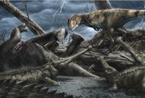 Reprezentarea faunezi sahariene de acum multe milioane de ani