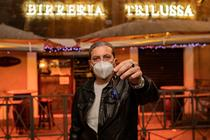Protest, patroni de restaurante Italia
