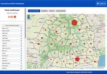 Harta cazurilor de coronavirus pe judete - 3 aprilie