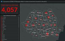 Harta cazurilor de coronavirus pe judete - 6 aprilie