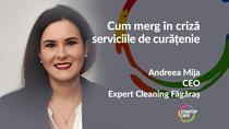 Andreea Mija, Expert Cleaning, interviu online marți la ora 12