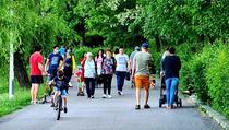 Poza parc din sectorul 2, pe 10 mai